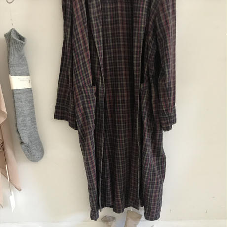 used checked gown