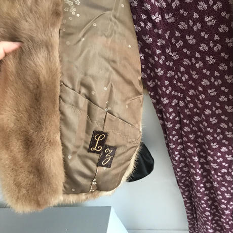 used mink fur cape