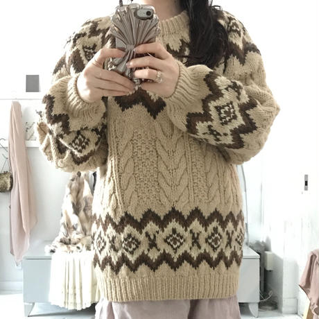 used big nordic sweater
