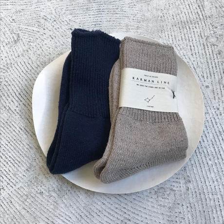 KARMAN LINE  cotton silk socks