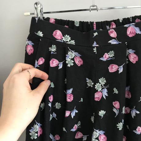 used  floral  flare pants