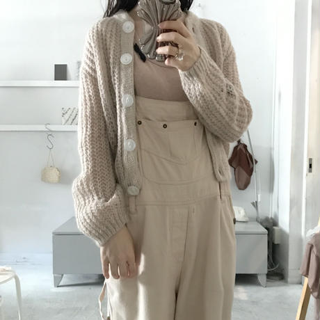 used  pink beige  knit cardigan
