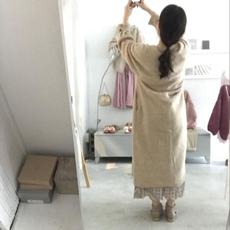 KiiRA アルパカ knit long cardigan