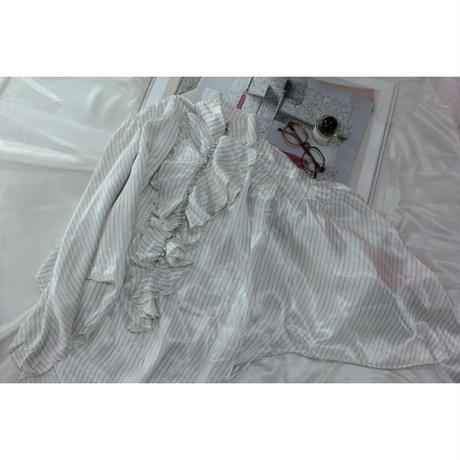 cascade frill blouse