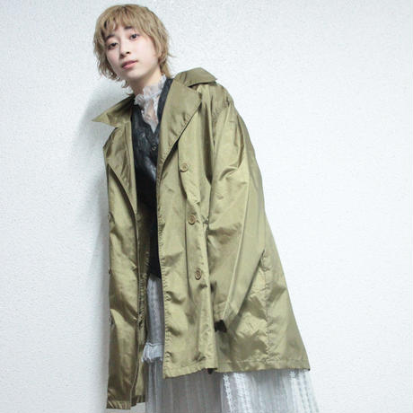 lilith art duct nylon trench coat