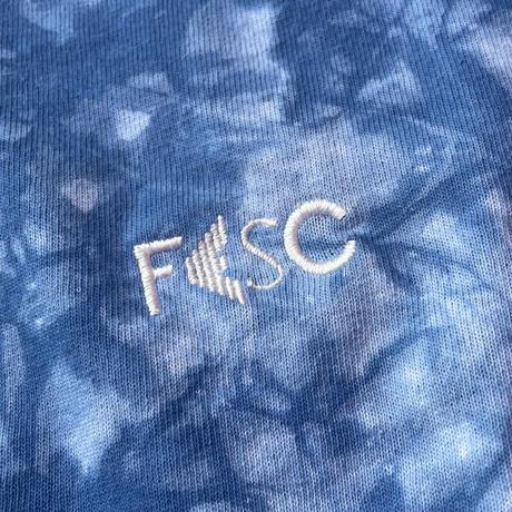 【NEWITEM】FESC BASIC LOGO STITCH L/S 6.0oz TIEDYE T-SHIRTS[LIMITED]