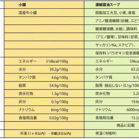 【年越しもつ鍋】冷凍モツ・麺・スープセット(醤油味)2人前