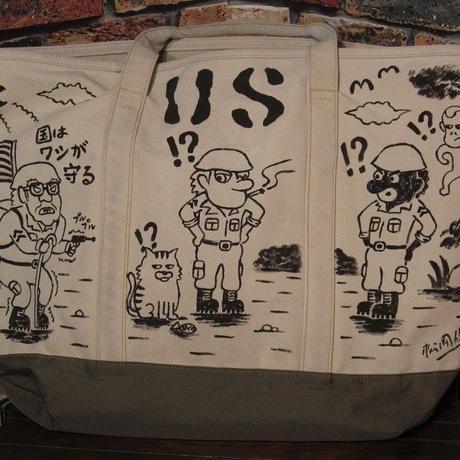 ブルックスブラザーズ 大型トートバッグ 手描き カーゴバッグ ミリタリー USARMY 大容量