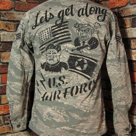 米空軍 ABUジャケット Mサイズ36 ロング丈 ハンドペイント ミリタリージャケットトランプ大統領