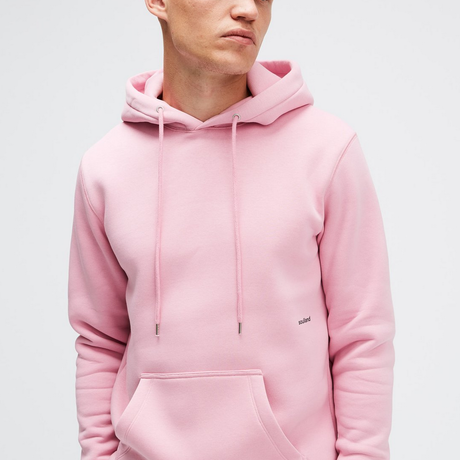 SOULLAND (ソウルランド) LOGIC WALLANCE   HOODED SWEAT W. FRONT PRINT - PINK