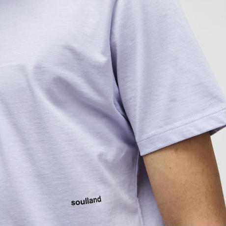 SOULLAND (ソウルランド) LOGIC COFFEY T-SHIRT W.PRINT - VIOLET