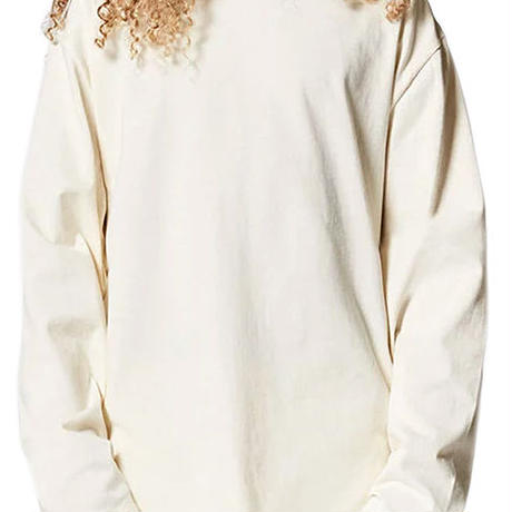 FOG Essentials BOXY L/S T-SHIRTS / CREAM