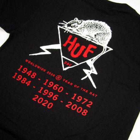 HUF  Year Of The Rat DBC S/S TEE BLACK / huf180