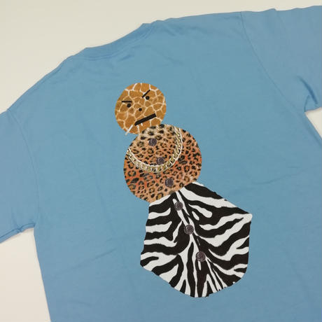QUARTERSNACKS SAFARI SNACKSMAN CHARITY TEE  QS11 CarolinaBlue