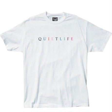 THE QUIET LIFE  RAINBOW TEE QL27 WHITE