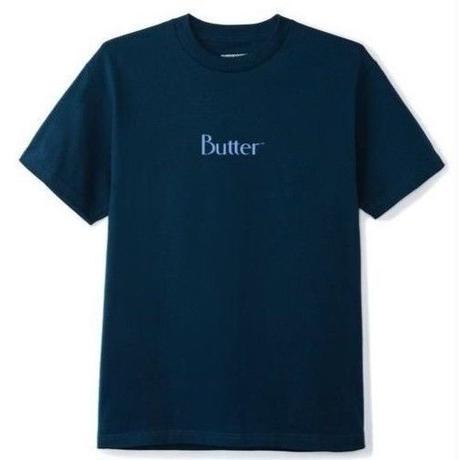 BUTTER GOODS Tシャツ PUFF PRINT CLASSIC LOGO TEE メンズ BG10 NAVY