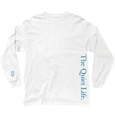 THE QUIET LIFE Serif Long Sleeve Tee メンズ ロンT QL32 WHITE