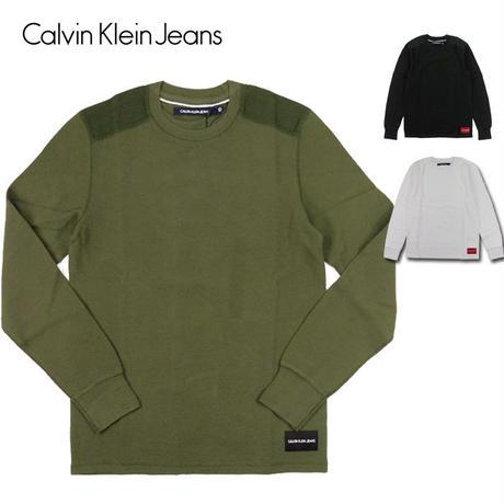 Calvin Klein Jeans カルバンクラインジーンズ ワッフル ロンT WAFFLE CREW メンズ トップス サーマル/CK80