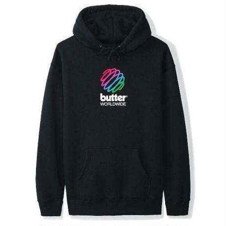 BUTTER GOODS Speckle Telecom Pullover バターグッズ パーカー メンズ トップス プルオーバーフード  BG41 BLACK
