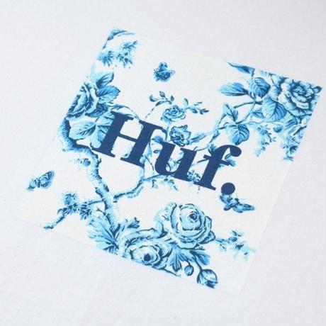 HUF HIGHLINE BOX LOGO TEE  HUF142 WHITE