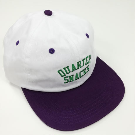 QUARTERSNACKS ARCH CAP  帽子  PurpleWhite  QS10