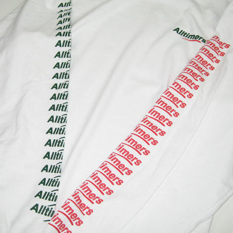 ALLTIMERS COUNT IT UP L/S TEE オールタイマーズ ロンT メンズ  WHITE ATS37