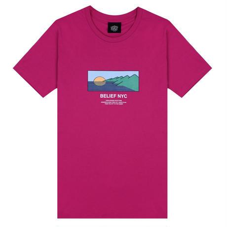 BELIEF NYC ビリーフ Tシャツ HORIZON TEE メンズ BL13 BERRY