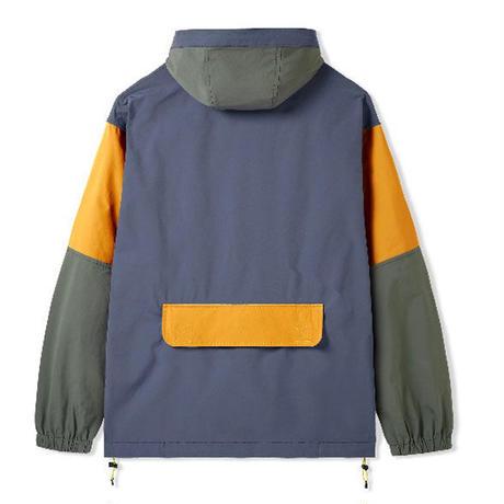 BUTTER GOODS Equipment Pullover Jacket バターグッズ アウター  メンズ ナイロン アノラックジャケット  StoneArmyGold/ BG40