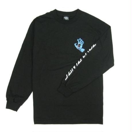 SANTA CRUZ  SCREAMING HAND L/S TEE  / SC11 BLK