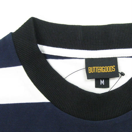 BUTTER GOODS  BADGE STRIPE TEE メンズ G13