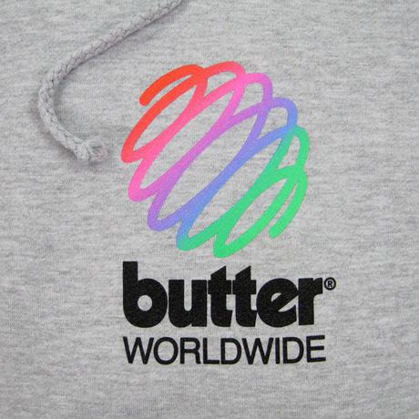 BUTTER GOODS Telecom Pullover バターグッズ パーカー メンズ トップス プルオーバーフード  BG41 ASH GREY