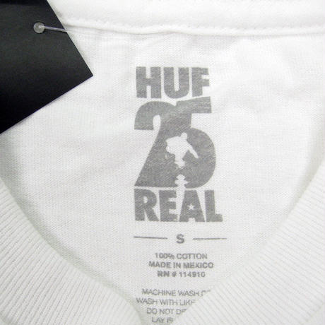 HUF  NON FICTION L/S TEE TS00761  REALコラボ  / HUF151 WHITE