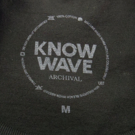 KNOW WAVE Up By Three Embroidered TEE ノウウェーブ 半袖Tシャツ メンズ トップス BLACK Mサイズ/ KW10