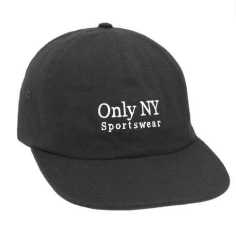 OnlyNY オンリーニューヨーク CAP キャップ GUIDELINE POLO HAT 6パネル メンズ ロゴキャップ ONLY20 BLACK