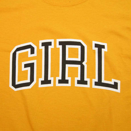 GIRL Skateboards  Arch Tee t ガール Tシャツ GOLD GR16
