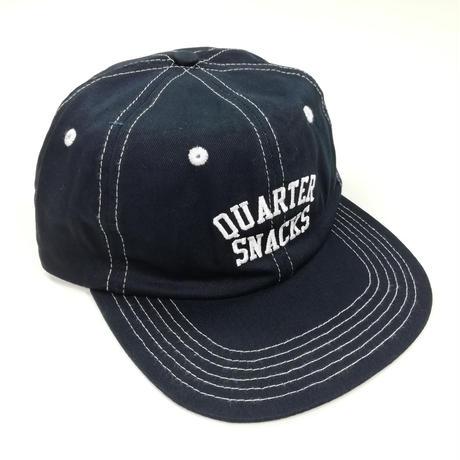 QUARTERSNACKS ARCH CAP キャップ スケーター ストリート メンズ CAP 帽子 NAVY スナップバック/QS10