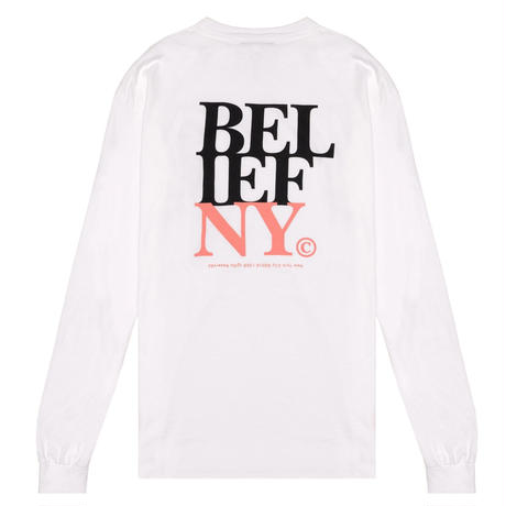 BELIEF NYC  STACKED L/S POCKET TEE  BL11