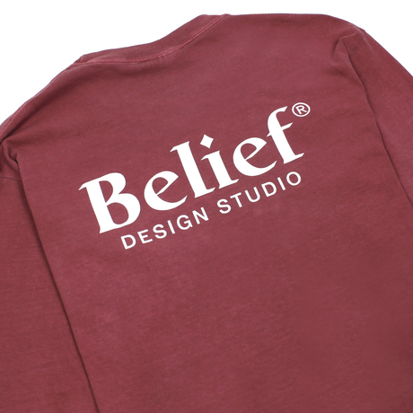 BELIEF NYC Studio L/S Pocket Tee - Brick ビリーフ bl18