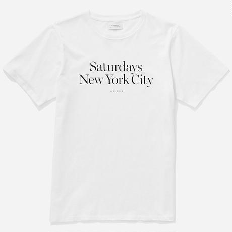 SATURDAYS NYC MILLER STANDARD S/S TEE SAT14 WHITE Pre Fall '19 Model