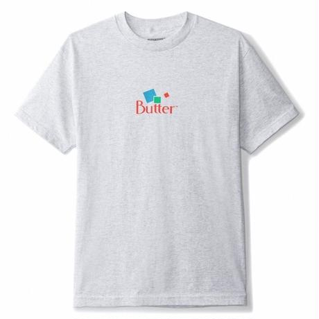 BUTTER GOODS Mineral Classic Logo Tee, Ash Grey