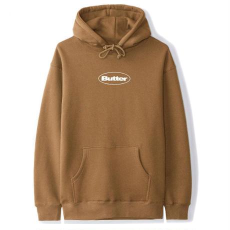 BUTTER GOODS Badge Puff Logo Pullover Hood バターグッズ パーカー メンズ トップス プルオーバーフード SADDLE/ BG33