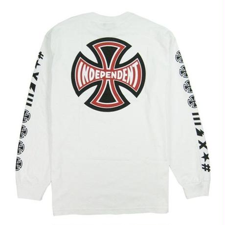 INDEPENDENT ANTE L/S REGULAR T-SHRTS /IND17 WHITE