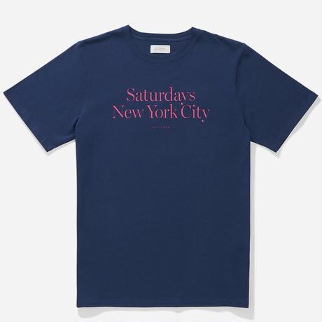 SATURDAYS NYC MILLER STANDARD S/S TEE SAT14 COBALT Pre Fall '19 Model