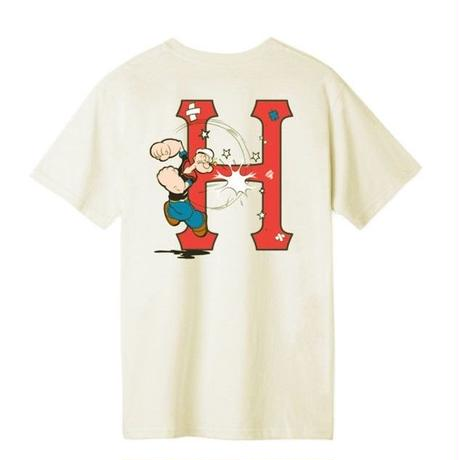 HUF×POPEYE ハフ 半袖Tシャツ POPEYE CLASSIC H S/S TEE ハフ ポパイコラボ TS00852 メンズ トップス CREAM  /HUF123