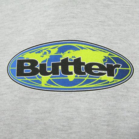 BUTTER GOODS Global Logo Pullover バターグッズ パーカー メンズ トップス プルオーバーフード  BG45 AshGrey