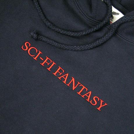SCI-FI FANTASY Logo Hood サイファイファンタジー パーカー NAVY SF16