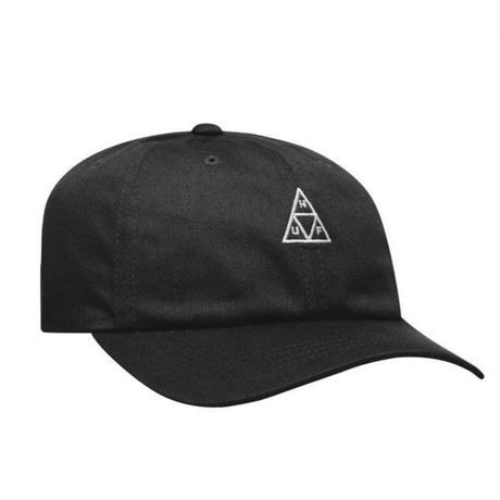HUF CAP ESSENTIALS Triple Triangle Curved Visor Hat CAP ハフ トリプルトライアングルロゴ   帽子 HT00346 BLACK /HUF117