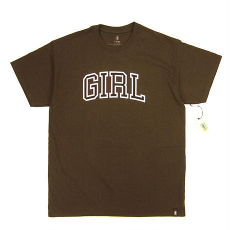 GIRL Skateboards  Arch Tee t ガール Tシャツ BROWN GR16