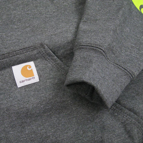 CARHARTT Midweight Signature Hooded Pullover Sweatshirt K288 CarbonHeather / CHT39