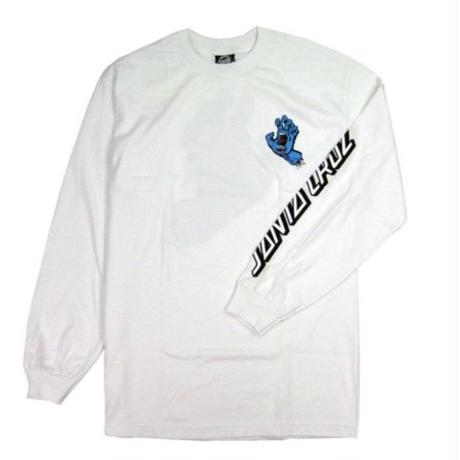 SANTA CRUZ SCREAMING HAND L/S TEE / SC11 WHT